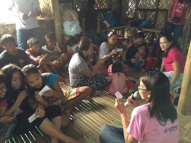 Our teacher, Aika, with Badjao girls in Palawan