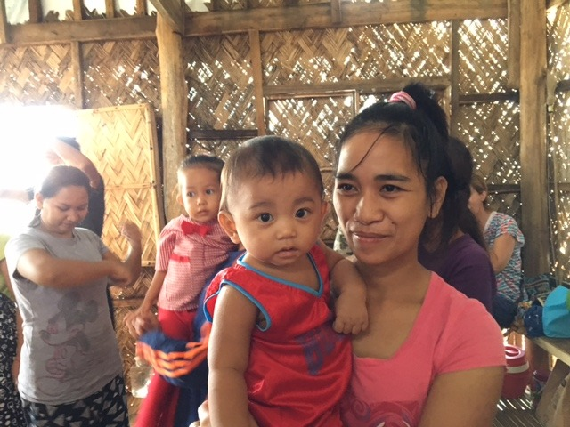 One of the teen participants with her baby