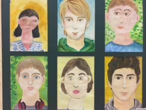 Self-portraits of our children at the Exhibition