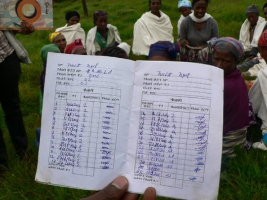 An SHG savings book