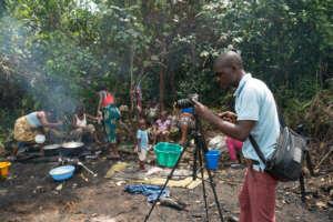 Boakai filming Integrity Idol (Photo by Aaron Nah)