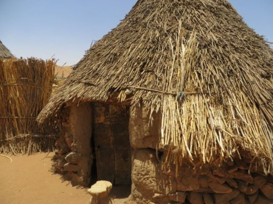 New house built by the villagers