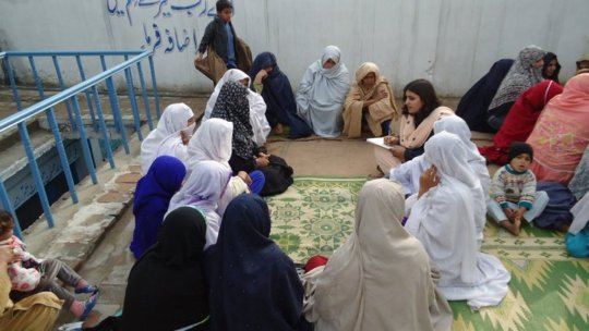 Young women receiving training from Aware Girls