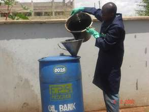 Credit for Collection of 31,000 ltrs of Used Oil.