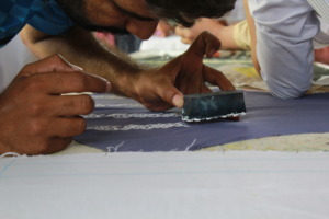 Block printing with much precision at JS Academy
