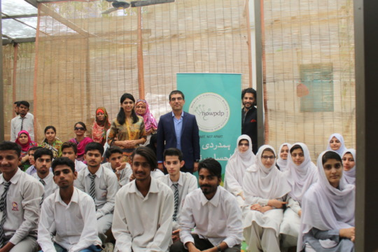 Mr Shahzeb @ motivational session for trainees