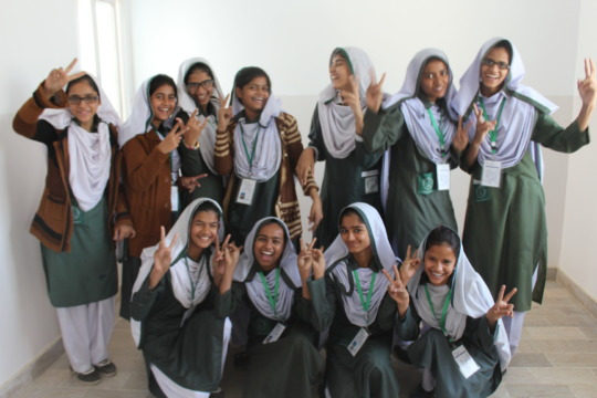 Our chirpy girls post-training at Islamic School!