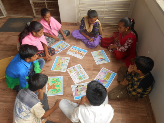 Children learning about child rights