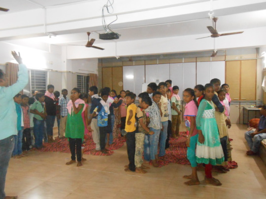 Activity during the residential camp