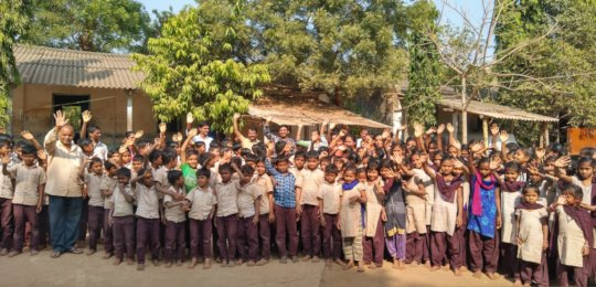 Children at Aaranyak project