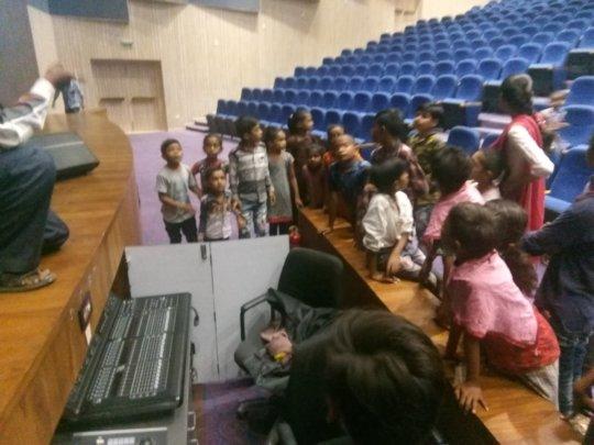 Visiting the Bhavnagar Auditorium