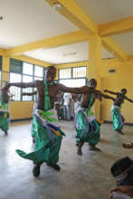 Enjoying traditional dance