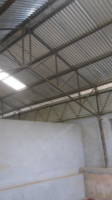 Roof of one of the new school classrooms