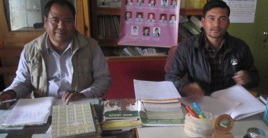 Principal and Vice Principal of Shree Bhumimata
