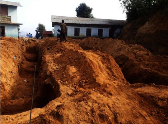 Excavation of foundation