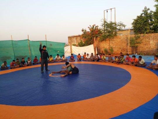 Wrestling session