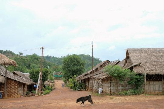 A remote community in Southeast Asia