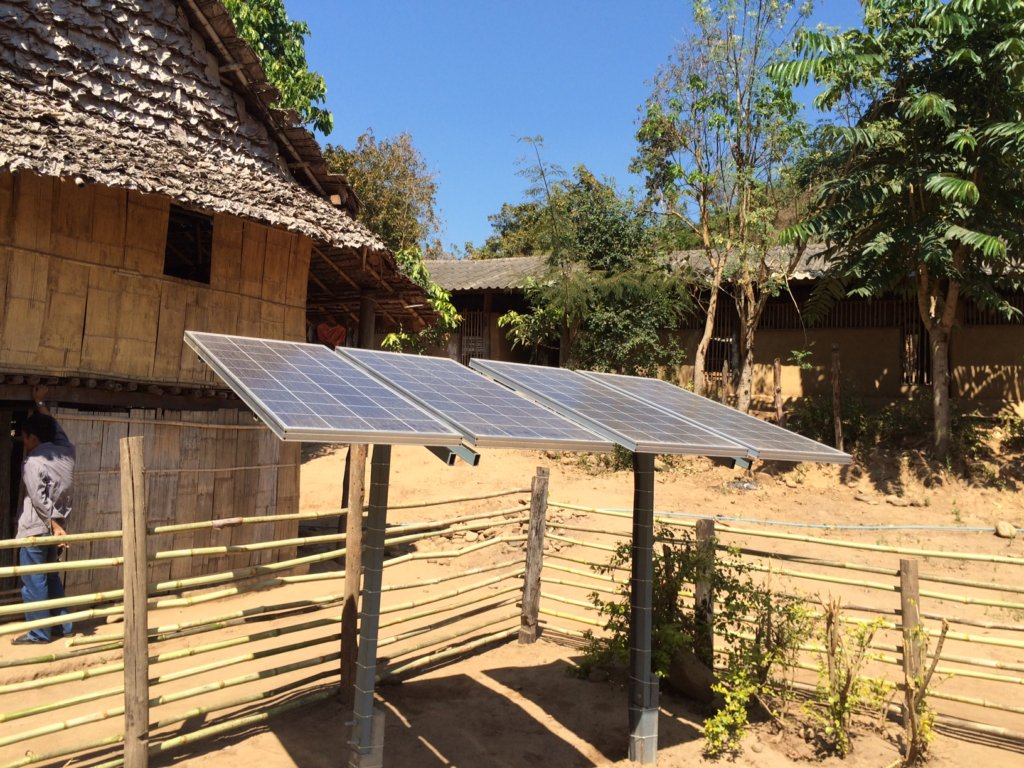 Solar lighting for remote communities in S.E.Asia