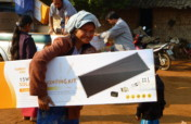 Solar lighting for remote communities in S.E.Asia.