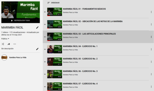 Creando tutoriales para Marimba