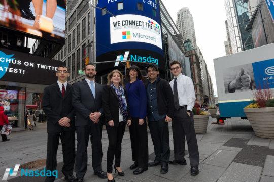 Opening the Nasdaq Stock Exchange