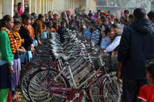 Girls final selected for bicycle distribution