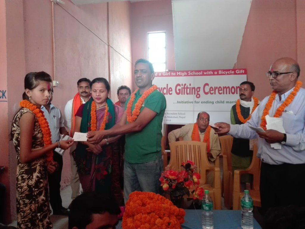 Bicycle gifting ceremony & the distinguished guest