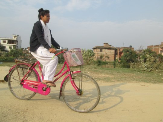 Send a Girl to High School with a Bicycle Gift