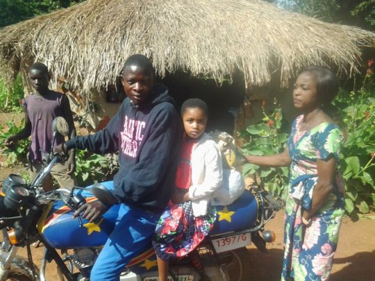 Making the journey by motorbike
