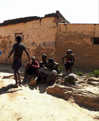 Street children in Lubumbashi