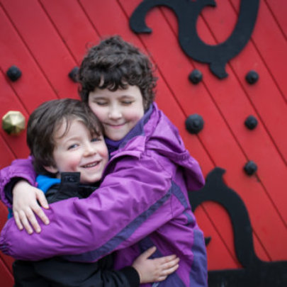 Roisin and her brother Liam at Barretstown