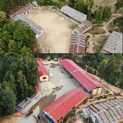 Shree Manakamana Basic School (before and after)