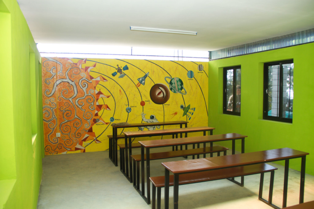 Finished classroom in Haibung