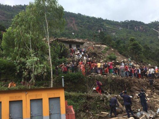 Damage from the September 2020 landslide