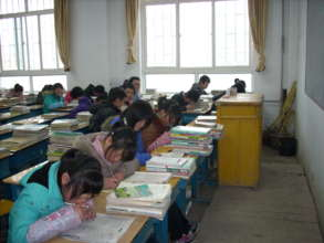 A normal day -- students confined in the classroom