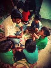 Shahid taking Leadership and Life skills sessions