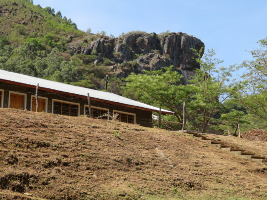 Some of the classrooms perched on the hill