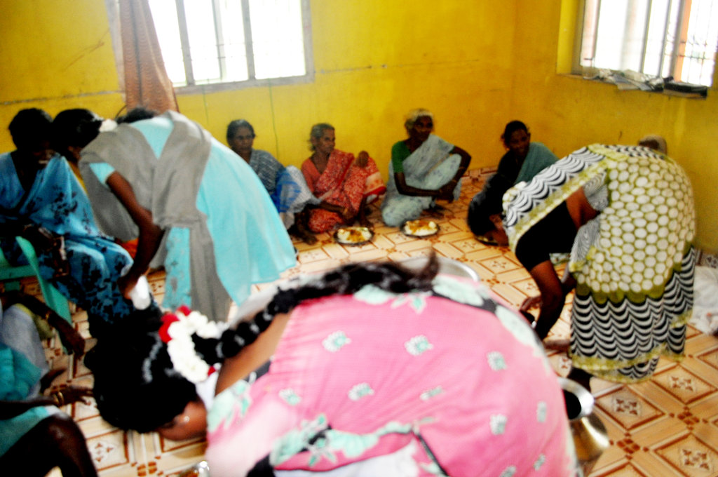 Provide food to hungry deserted elders