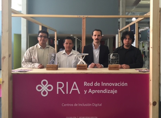 Ramses, Jorge and Ricardo with Proacceso president