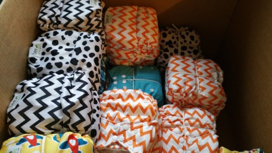 Cloth diapers ready to meet a baby in need