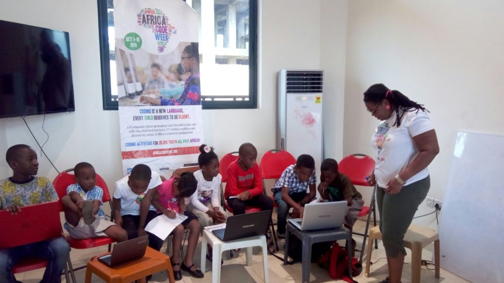 Little programmers in Africa, yes!