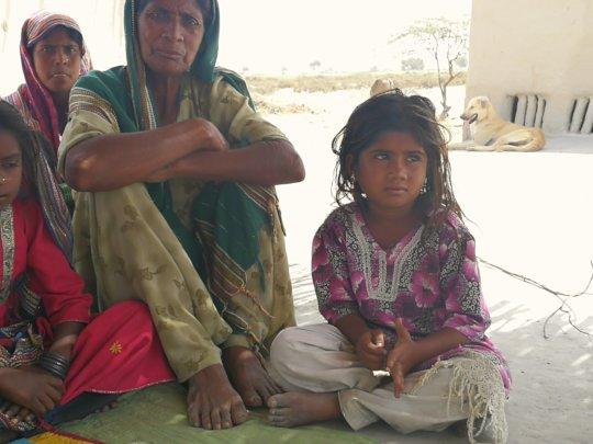 Poor Women Looking solar light