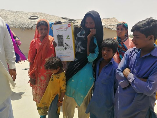 solar light for poor families