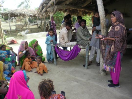 women sharing needs of solar light