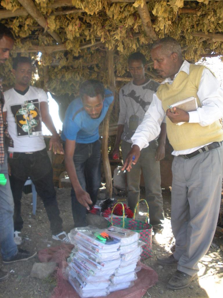 Distribution of extra school materials