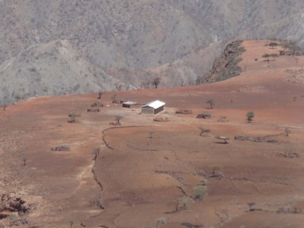 One of the schools in a dry and dusty land...