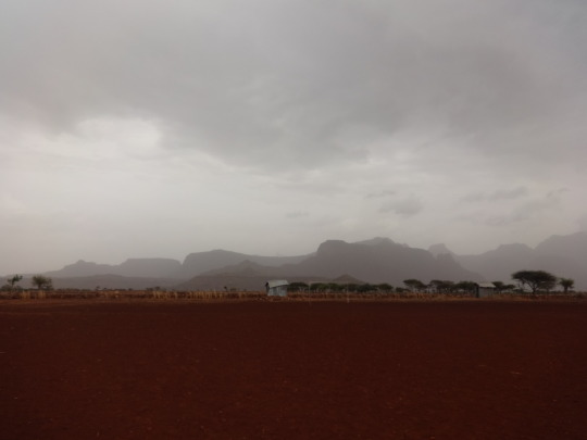 It started to rain as we were leaving!