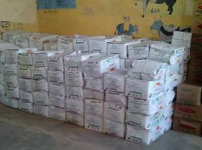 The supplies safely in Fyel Wuha