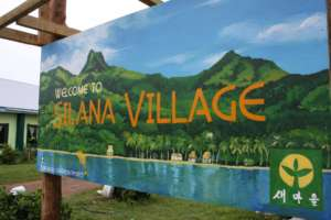 The new Silana Village sign