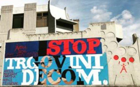 Stop child trafficking mural